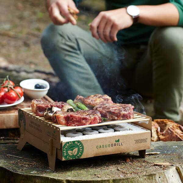Recyclable cardboard BBQ