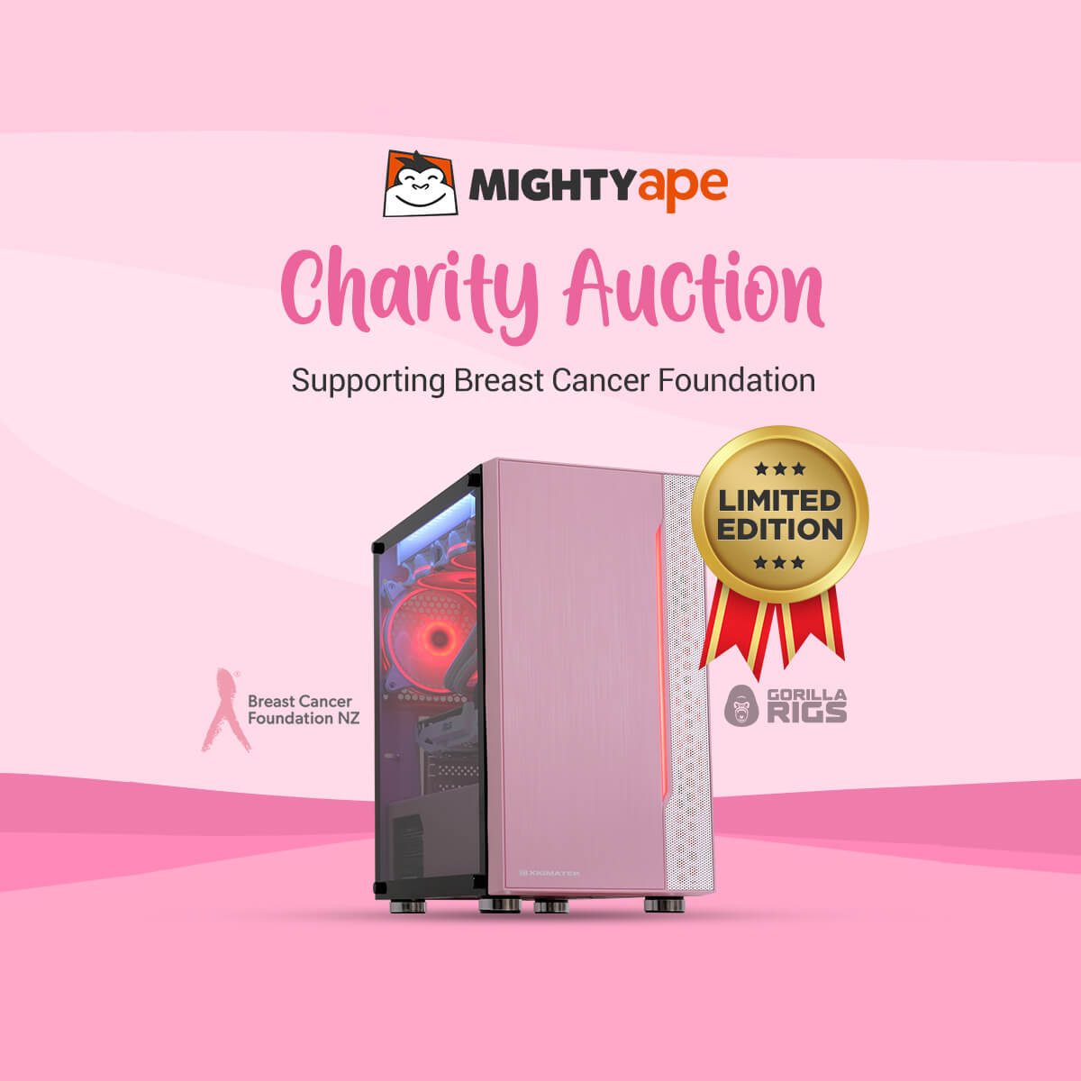 Cherry Pink Chimp Charity Auction