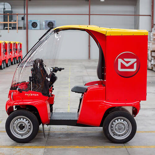 NZ Post small delivery vehicle