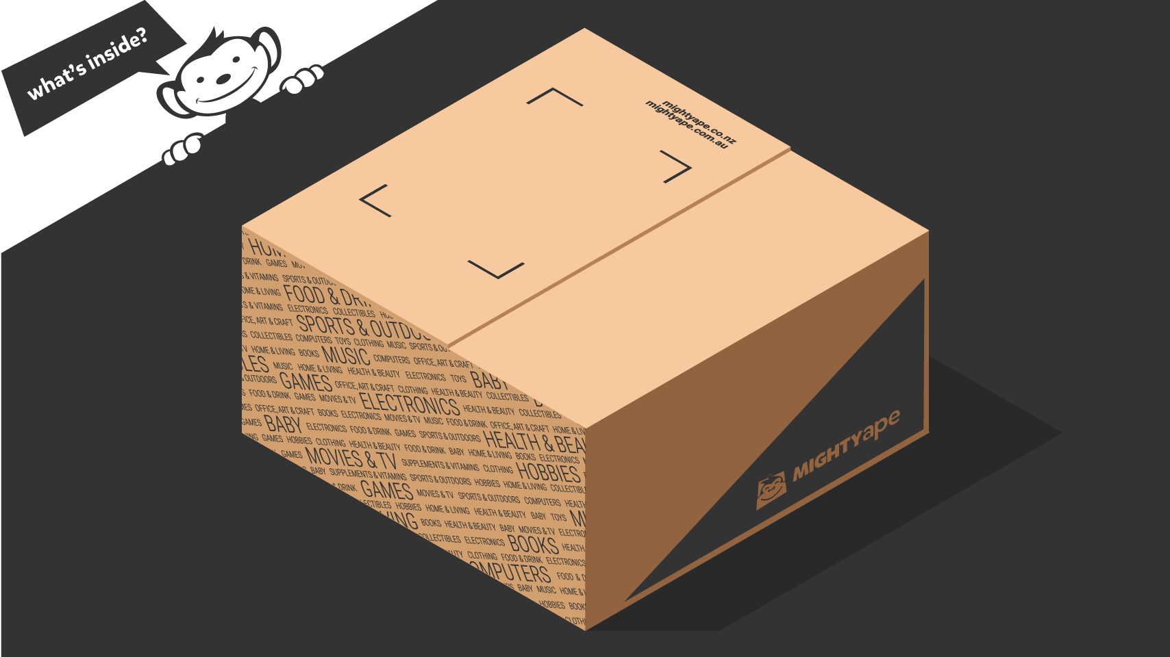 Illustration of Mighty Ape carton